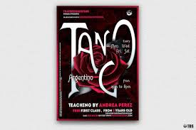 Tango Graphic Design Tango Flyer Template V3 Free Posters Design For Photoshop