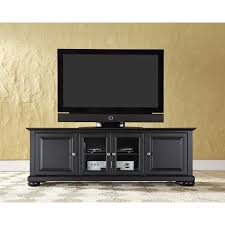 alexandria  inch low profile tv stand in black finish crosley