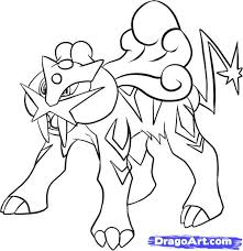 Small Picture How to Draw Raikou Step by Step Pokemon Characters Anime Draw