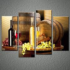 grape and wine canvas wall art framed wine canvas print art for kitchen bar on wine bar wall art with amazon grape and wine canvas wall art framed wine canvas print