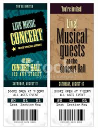Concert Ticket Invitation Template Set Of Cool Concert Tickets Template Stock Vector FreeImages 8