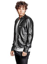 jacob faux leather jacket guess uk guess jackets guess marciano