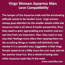 Pisces Woman And Sagittarius Man Compatibility Chart Virgo Woman And Aquarius Man Love Compatibility Astrolika