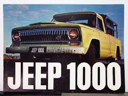 1967 Jeep 1000 Truck Sales Brochure & Specifications In Spanish Text