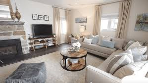 Neutral furniture Cozy The Spruce How To Decorate Neutral Living Room