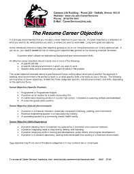 Career Goal For Resume Examples Example Resume Sample Resume