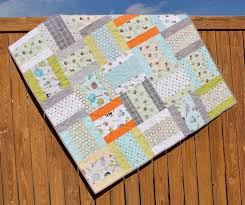 189 best Baby quilts images on Pinterest | Creative, Fabric strips ... & This adorable baby quilt was made by two friends who love to quilt together. Adamdwight.com