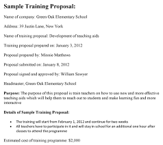 Cost Proposal Templates Training Proposal Template 60