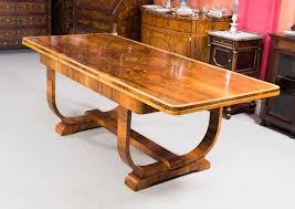 06845 antique art deco burr walnut dining table art deco dining 7