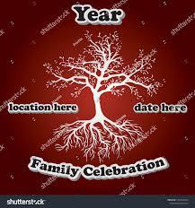Family Reunion Poster Design Family Reunion Tree Party Design Vector Stock Vector