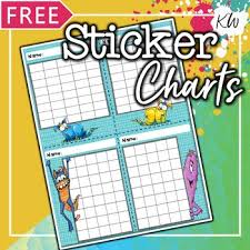 Free Sticker Charts Free Sticker Charts For Speech Therapy 8 Monster Theme Designs