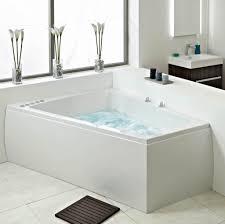 ... Bathtubs Idea, Whirlpool Bath Double Jacuzzi Bath Unique Freestanding  Jetted Jacuzzi Shape Minimalist Modern Bathroom ...