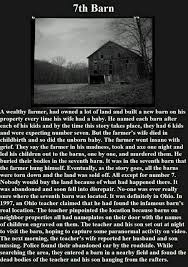 best sooo spooky images creepy stuff creepy  the 7th barn scary story