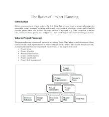 Writing A Project Plan Template