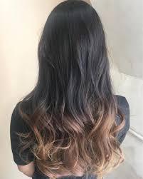 明るくなっていた髪色を 毛先だけ残して グラデーションカラーに