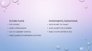 essay ppt  5 investments donations future plans