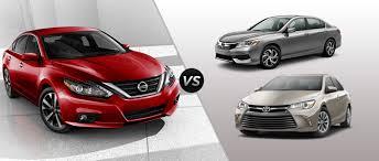 2016 Nissan Altima vs 2016 Honda Accord vs 2016 Toyota Camry
