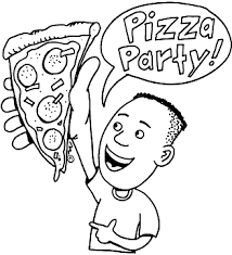 pizza party clipart black and white. Brilliant Black Pizza Clipart Black And White With Party I