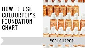 Foundation Match Chart How To Use Colourpop Foundation Match Chart Itiserikamarie