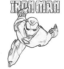 Small Picture Coloring Pages Iron Man Drawing