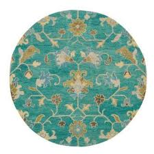 montpellier teal 8 ft x 8 ft round area rug montpellier