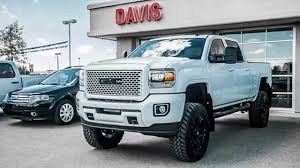 gmc 2015 truck white. Plain Gmc White 2015 Sierra Denali HD Custom Paint Lifted Only In Alberta At Davis GMC  Buick  YouTube Throughout Gmc Truck I