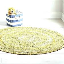 round yellow rug area circle outdoor 5x7