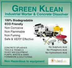 green klean concrete mortar dissolver label