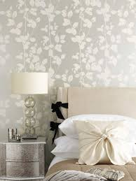 Grey feature wallpaper bedroom
