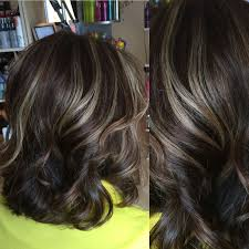 Highlights For Dark Hair Color Kristins Purple Highlights Black