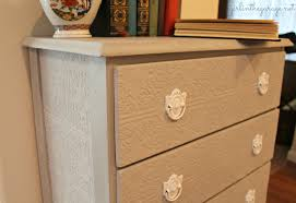 how to wallpaper furniture. A Plain Dresser Gets Makeover With Paintable Wallpaper, Annie Sloan Chalk Paint, And How To Wallpaper Furniture R