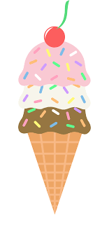 ice cream cone without ice cream clipart.  Cream Clip Art Of Neapolitan Ice Cream Cone With Sprinkles And A Cherry On Top For Ice Cream Cone Without Clipart E