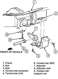 torsion key adjustment bolt. 2008-2011 ford ranger 4x4 torsion suspension versus 1998-2007 bar suspension: key adjustment bolt