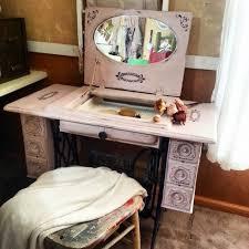 Repurposed Sewing Machine Table to Vanity