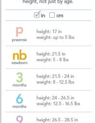 Gerber Onesie Size Chart Carters Size Chart Kid Clothes Sizes Pinterest Chart With