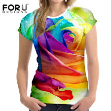 Sports T Shirt Design For Girls Us 12 99 30 Off Colorful Rose Printing Fitness Sport Women T Shirt Outdoor Flexible Gym Soft Breathable T Shirt For Running Athletic Clothes In
