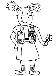 Brownie Girl Scout Coloring Pages Dxjz Girl Scout Petal Coloring