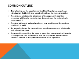 rogerian argumentpp  negotiating argument 7