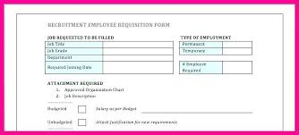 Employee Requisition Form Colbro Co