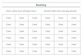Classroom Seating Chart Template Locksmithcovington Template