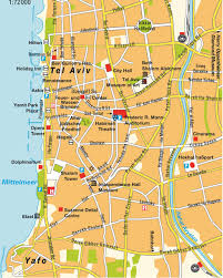 map tel avivyafo gusch dan maps and directions at hotmap