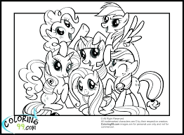 Free Printable My Little Pony Coloring Pages My Little Pony Coloring