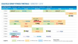 group fitness timetable caulfield cus