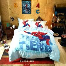 twin size spiderman bedding boys set kids iron man duvet cover bed spiderman twin comforter and