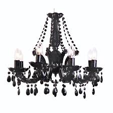 black crystal chandelier marie therese 8 arm black crystal chandelier