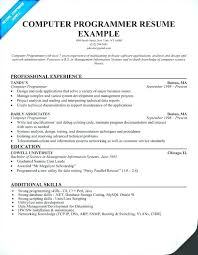 Programmer Resume Example Med Assistant Info