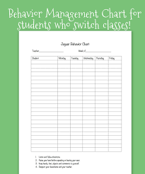 Homework Chart For Middle School Weekly Behavior Chart For Middle School Students