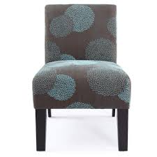 this grey and blue accent chair would fit nicely in a room with some blue