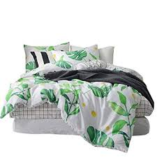 palm duvet cover. Perfect Palm BuLuTu Palm Tree Leaves Print Cotton Twin Kids Bedding Cover Sets For Boys  Girls Reversible Nature For Duvet E