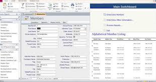 Membership Dues Template Access Database Membership Tracking Templates Examples
